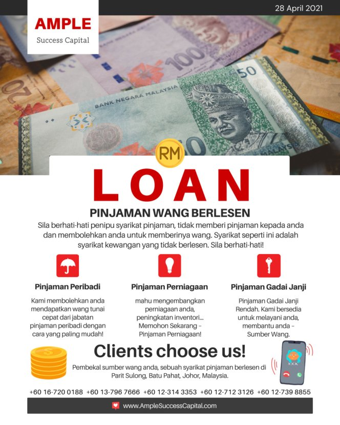 Pinjaman Wang Parit Sulong Pinjaman Wang Batu Pahat Pinjaman Wang Muar Pinjaman Wang Berlesen Parit Sulong Loan Ample Success Capital A05