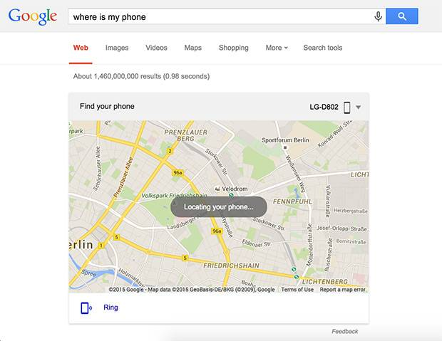 android device manager search