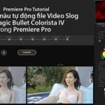 Cân chỉnh màu tự động file Video Slog với Colorista IV trong Premiere Pro