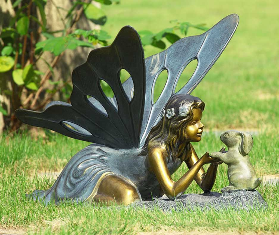 Fairy Statues For Garden With Large Butterfly Wings