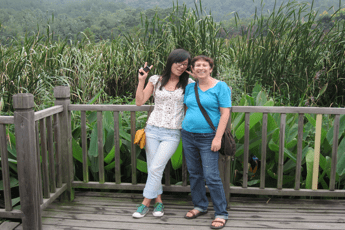 Me and Jane at Zhejiang University of Agriculture and Forestry Photo Copyright Ruth Schaeffer
