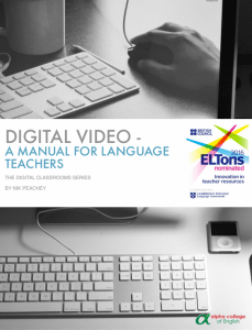Digital Video – A Manual for Language Teachers