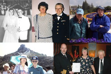 "Mom and Dad married in the 1950s, visited when I was in China several times, and celebrated their 50th anniversary with a ""renewal of vows"" on a cruise in Alaska! (And yes, Dad served in the Army and Reserves for many years.)"