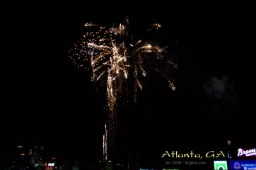 Fireworks after a baseball game.