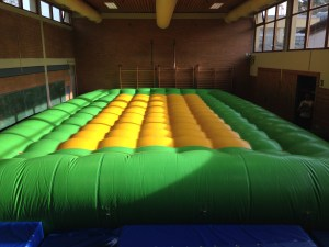 Psychomotricity: It was actually founded in Hamm! And they have an amazing range of therapeutic activities like this huge air mattress where kids can climb on or crawl under.