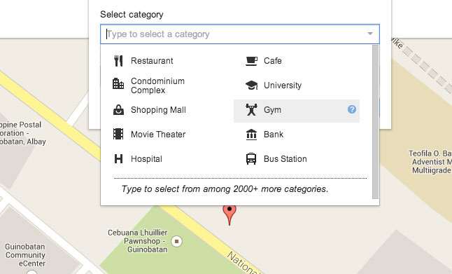 How to add place in Google Map Step 5