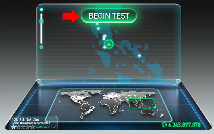 Internet Speed Test Step 1