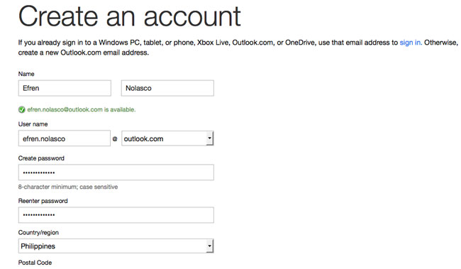 create email account outlook 2
