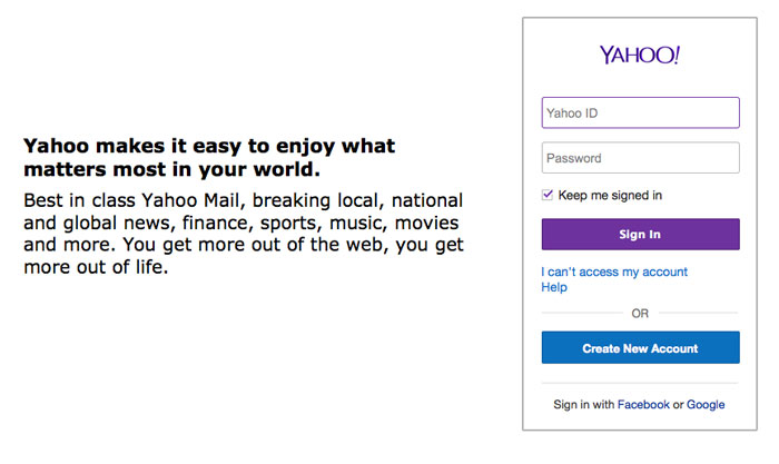 create email account yahoo