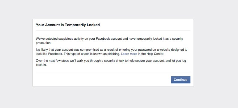Facebook-Account-Lock