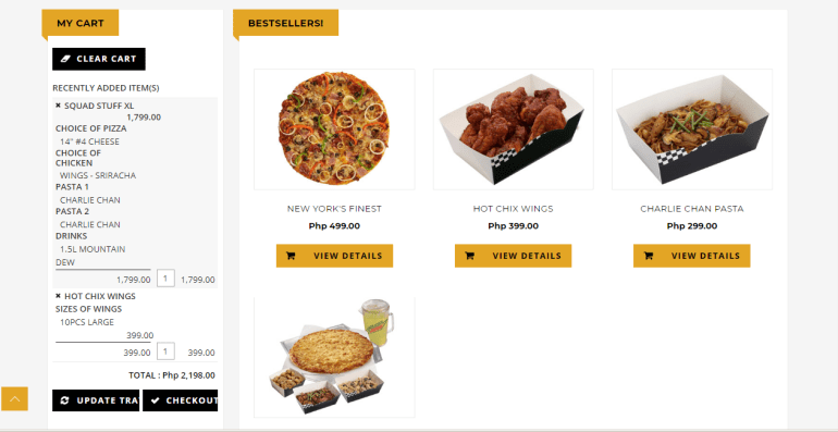 Yellow Cab online delivery