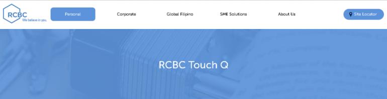 RCBC Touch Q Facility