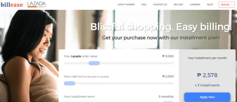BillEase—Lazada's installment payment plan
