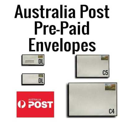 Australia Post Pre-Paid envelopes. (Genuine Australia Post envelopes)