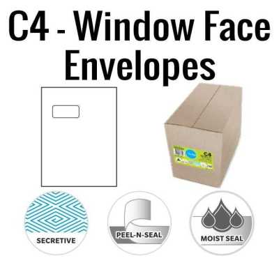 C4 Window Face Envelopes 229 x 324mm