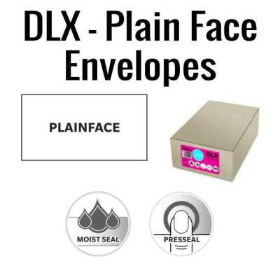 DLX Plain Face Envelopes 120 x 235mm