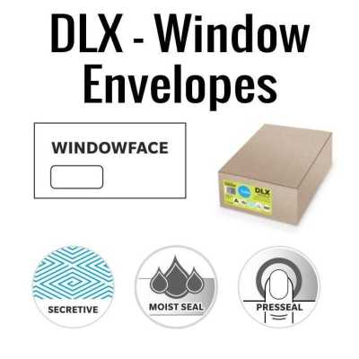 DLX Window Face Envelopes 120 x 235mm