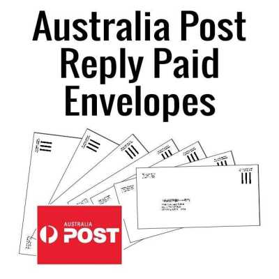 Australia Post Reply-Paid envelopes. (Approved Australia Post envelopes)