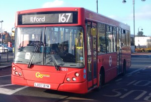 167 bus at Loughton Station