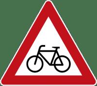 (beware of cycles sign)