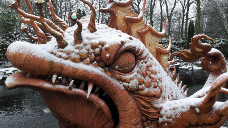 De monstervis van Pinokkio heeft het koud ©EftelWesley