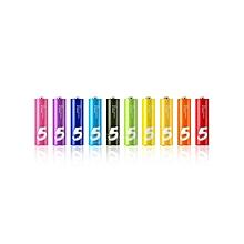 Mi Rainbow Batteries - Alkaline AA - 10 Pcs