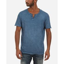 V Neck Solid T-shirt - Dark Cyan