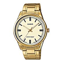 MTP-V005G-9A Stainless Steel Watch - Silver