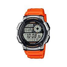 AE-1000W-4B Resin Watch - Orange