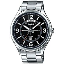 MTP-E129D-1A Stainless Steel Watch - Silver