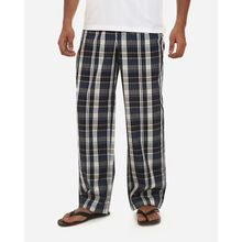 Plaid Casual Pijama Pants - Off White & Navy Blue