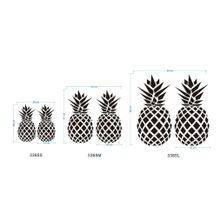 TA Removable Pineapple Wall Sticker Hallway Decor Art Suitable for Living Room-Multicolor