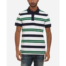 Wild Striped Polo shirt - White & Green