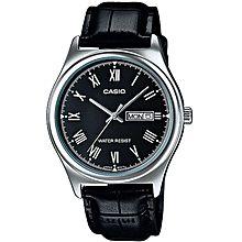 MTP-V006L-1BUDF ساعة جلدية - أسود