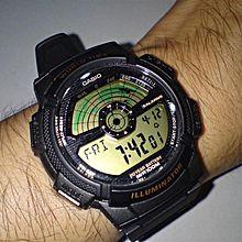 AE-1100W-1BVDF Resin Digital Watch - Black