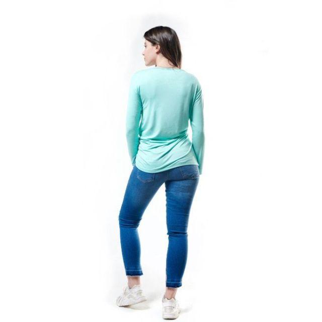 Merch Side Knot T-Shirt - Aqua