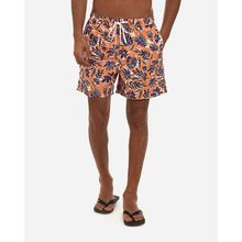 Floral Casual Swimwear - Orange