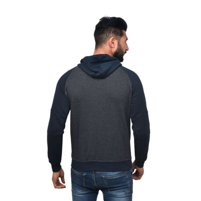 product_image_name-Town Team-Casual Bi Tone Hooded Sweat Shirt - NAVY-3