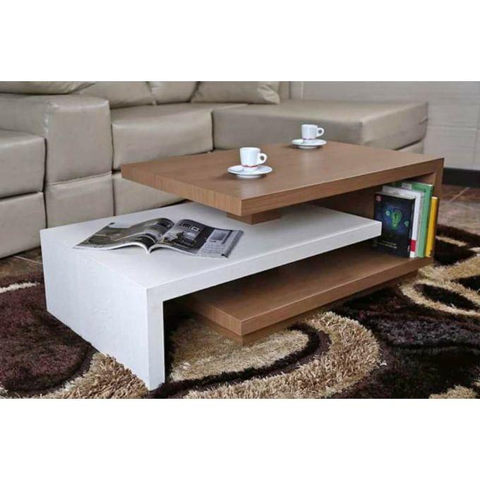 modern living room table 55 100 cm brown white