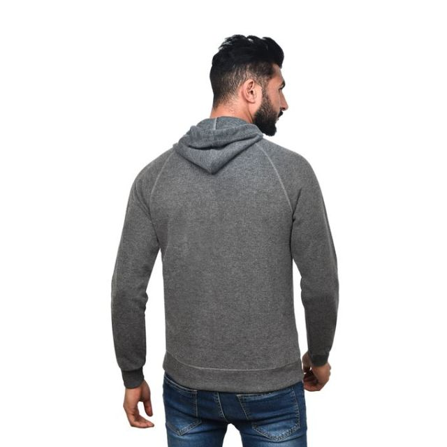 product_image_name-Town Team-Casual Plain Hooded Sweat Shirt - CHARCOAL-3