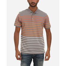 Stripes Polo Shirt - Dark Grey & Orange