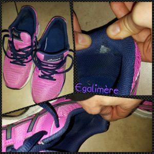 chaussures running non adaptées, abîmées