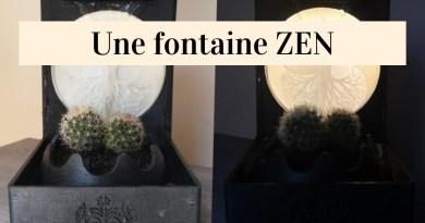 Réalisation d'une fontaine ZEN