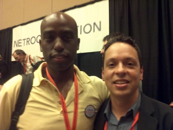 Netroots Nation Egberto Willies with Markos Moulitsas