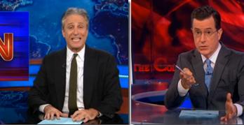 Jon Stewart & Stephen Colbert Justifiably Excoriate CNN On Miscue (VIDEO)