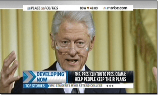 Bill Clinton Obamacare Affordable Care Act