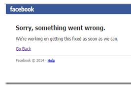 Facebook Crashed Down