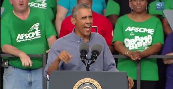 President Obama speaks out passionately at the 2014 Milwaukee Laborfest