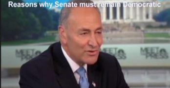 Senator Chuck Schumer makes case for Democratic Senate