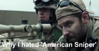 This is why I hated American Sniper, another shallow movie.